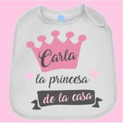 """Babero """"Princesa"""""""
