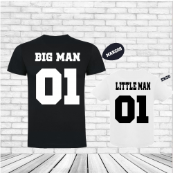 Camisetas Big man Little man